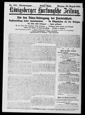 Königsberger Hartungsche Zeitung vom 30.08.1915