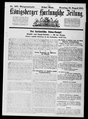 Königsberger Hartungsche Zeitung vom 31.08.1915