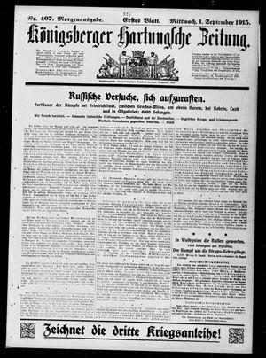 Königsberger Hartungsche Zeitung vom 01.09.1915