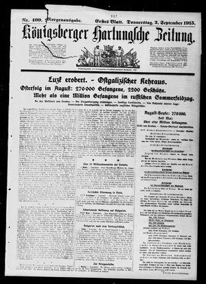 Königsberger Hartungsche Zeitung vom 02.09.1915