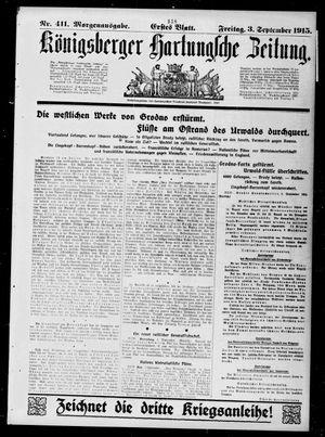 Königsberger Hartungsche Zeitung vom 03.09.1915