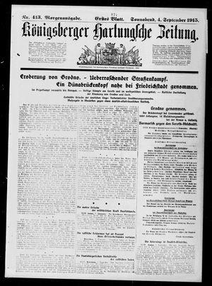 Königsberger Hartungsche Zeitung on Sep 4, 1915