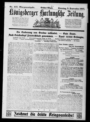 Königsberger Hartungsche Zeitung vom 05.09.1915