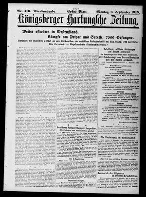 Königsberger Hartungsche Zeitung vom 06.09.1915