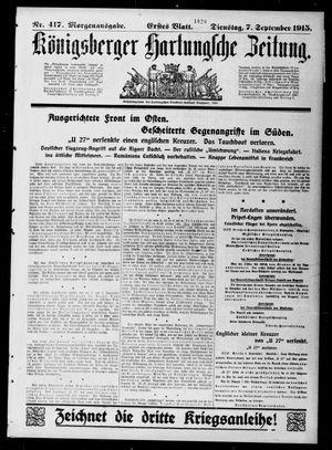 Königsberger Hartungsche Zeitung vom 07.09.1915