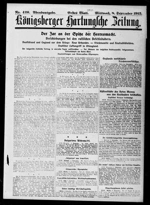 Königsberger Hartungsche Zeitung vom 08.09.1915