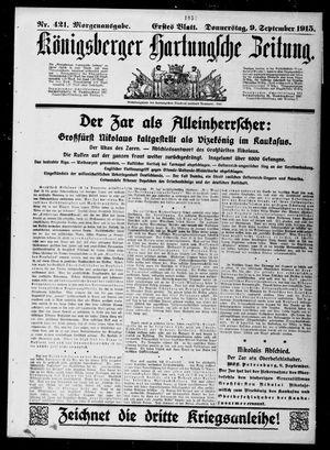 Königsberger Hartungsche Zeitung vom 09.09.1915