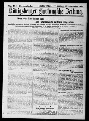 Königsberger Hartungsche Zeitung vom 10.09.1915