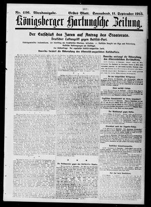 Königsberger Hartungsche Zeitung vom 11.09.1915