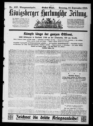 Königsberger Hartungsche Zeitung vom 12.09.1915