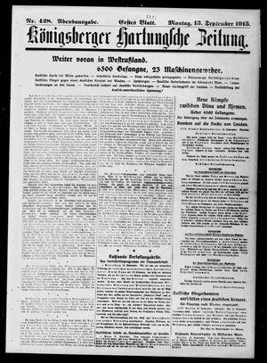 Königsberger Hartungsche Zeitung on Sep 13, 1915