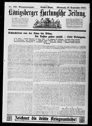 Königsberger Hartungsche Zeitung vom 15.09.1915
