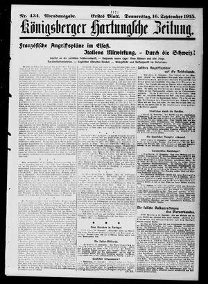 Königsberger Hartungsche Zeitung vom 16.09.1915