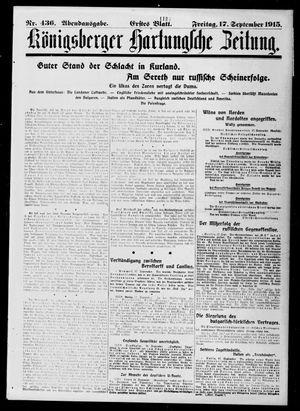 Königsberger Hartungsche Zeitung vom 17.09.1915