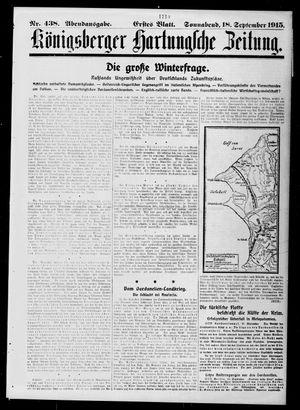 Königsberger Hartungsche Zeitung vom 18.09.1915