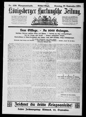 Königsberger Hartungsche Zeitung vom 19.09.1915