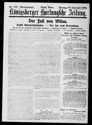 Königsberger Hartungsche Zeitung vom 20.09.1915