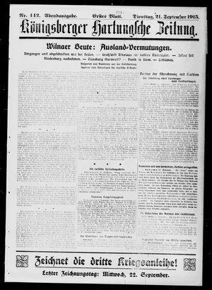 Königsberger Hartungsche Zeitung on Sep 21, 1915