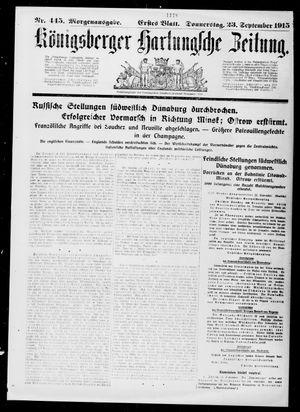 Königsberger Hartungsche Zeitung vom 23.09.1915
