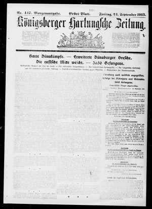Königsberger Hartungsche Zeitung vom 24.09.1915