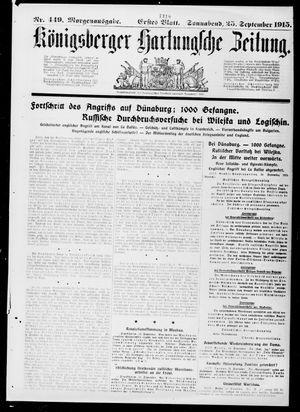 Königsberger Hartungsche Zeitung vom 25.09.1915