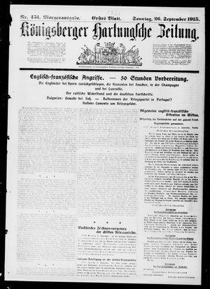 Königsberger Hartungsche Zeitung on Sep 26, 1915