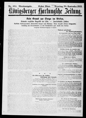 Königsberger Hartungsche Zeitung vom 28.09.1915