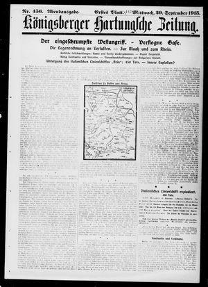 Königsberger Hartungsche Zeitung vom 29.09.1915