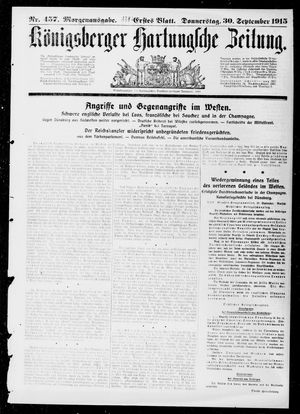 Königsberger Hartungsche Zeitung vom 30.09.1915