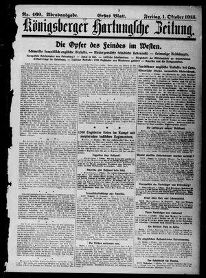 Königsberger Hartungsche Zeitung vom 01.10.1915