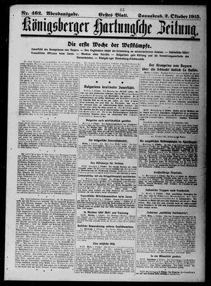 Königsberger Hartungsche Zeitung vom 02.10.1915