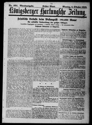 Königsberger Hartungsche Zeitung vom 04.10.1915