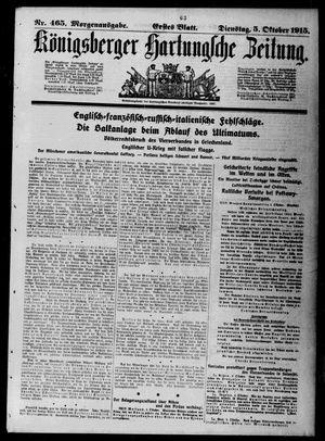 Königsberger Hartungsche Zeitung vom 05.10.1915