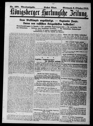 Königsberger Hartungsche Zeitung vom 06.10.1915