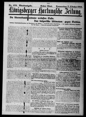 Königsberger Hartungsche Zeitung vom 07.10.1915