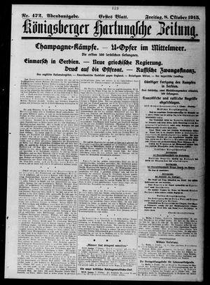 Königsberger Hartungsche Zeitung vom 08.10.1915