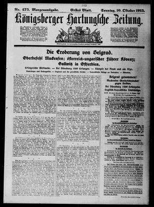 Königsberger Hartungsche Zeitung vom 10.10.1915