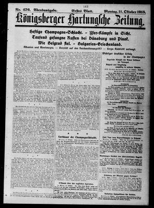 Königsberger Hartungsche Zeitung vom 11.10.1915