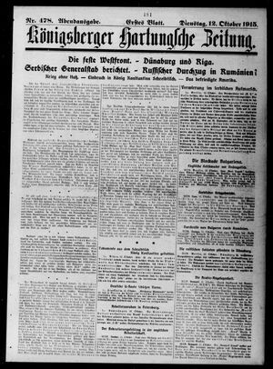 Königsberger Hartungsche Zeitung vom 12.10.1915