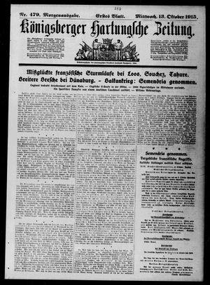 Königsberger Hartungsche Zeitung vom 13.10.1915