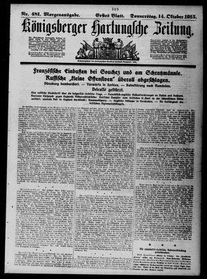 Königsberger Hartungsche Zeitung vom 14.10.1915