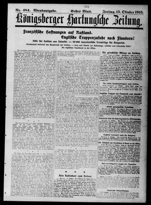 Königsberger Hartungsche Zeitung vom 15.10.1915