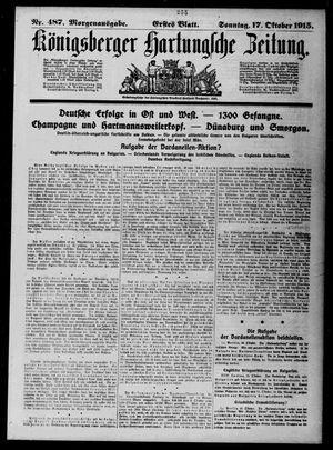 Königsberger Hartungsche Zeitung vom 17.10.1915