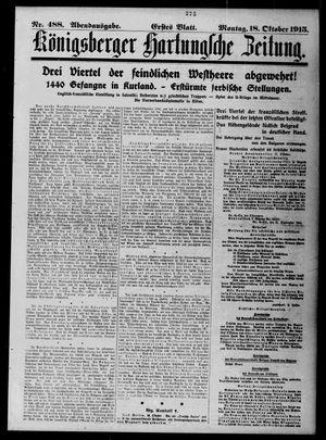 Königsberger Hartungsche Zeitung vom 18.10.1915