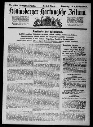 Königsberger Hartungsche Zeitung vom 19.10.1915