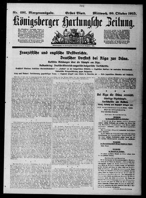 Königsberger Hartungsche Zeitung vom 20.10.1915