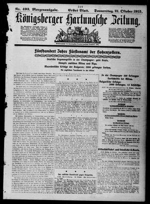 Königsberger Hartungsche Zeitung vom 21.10.1915