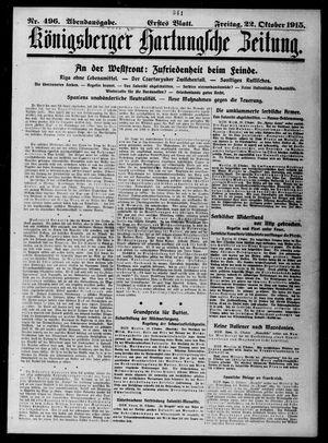 Königsberger Hartungsche Zeitung vom 22.10.1915
