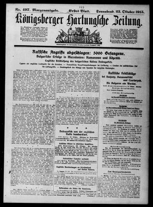 Königsberger Hartungsche Zeitung vom 23.10.1915