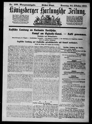 Königsberger Hartungsche Zeitung vom 24.10.1915